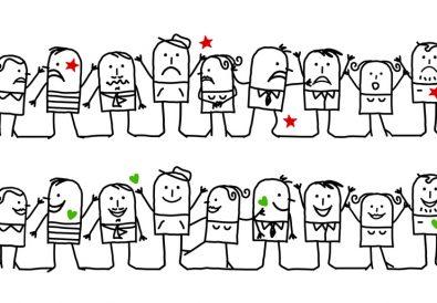 happy & unhappy groups