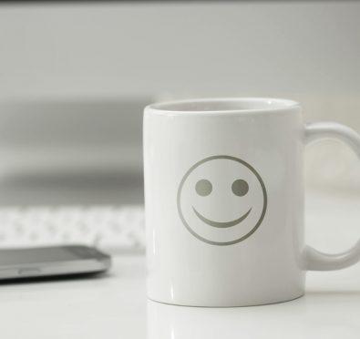 tazza, risveglio, ottimismo, felicit