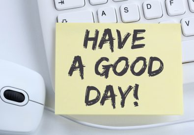 Have a good day nice wish work business concept office computer keyboard