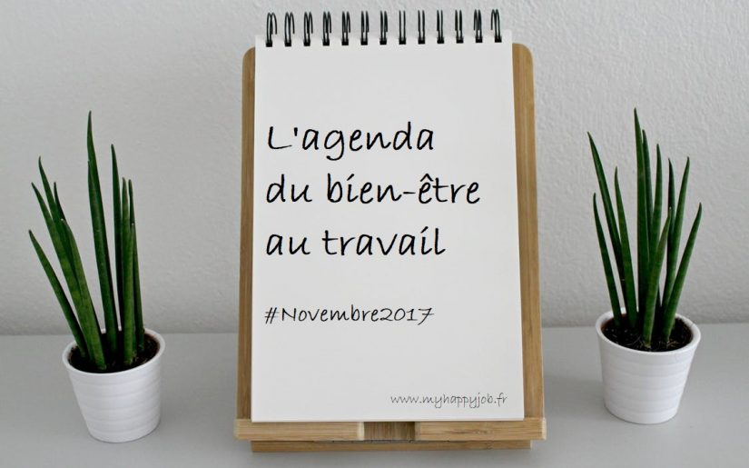 Agenda bien etre travail novembre
