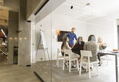 Multiethnic modern business team developing the company's strategy at the office
