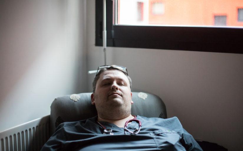 27112018. Evreux. Reportage aux Urgences du centre hospitalier Eure-Seine. Dr Arnaud Depil Duval, Responsable de structure interne, médecin.